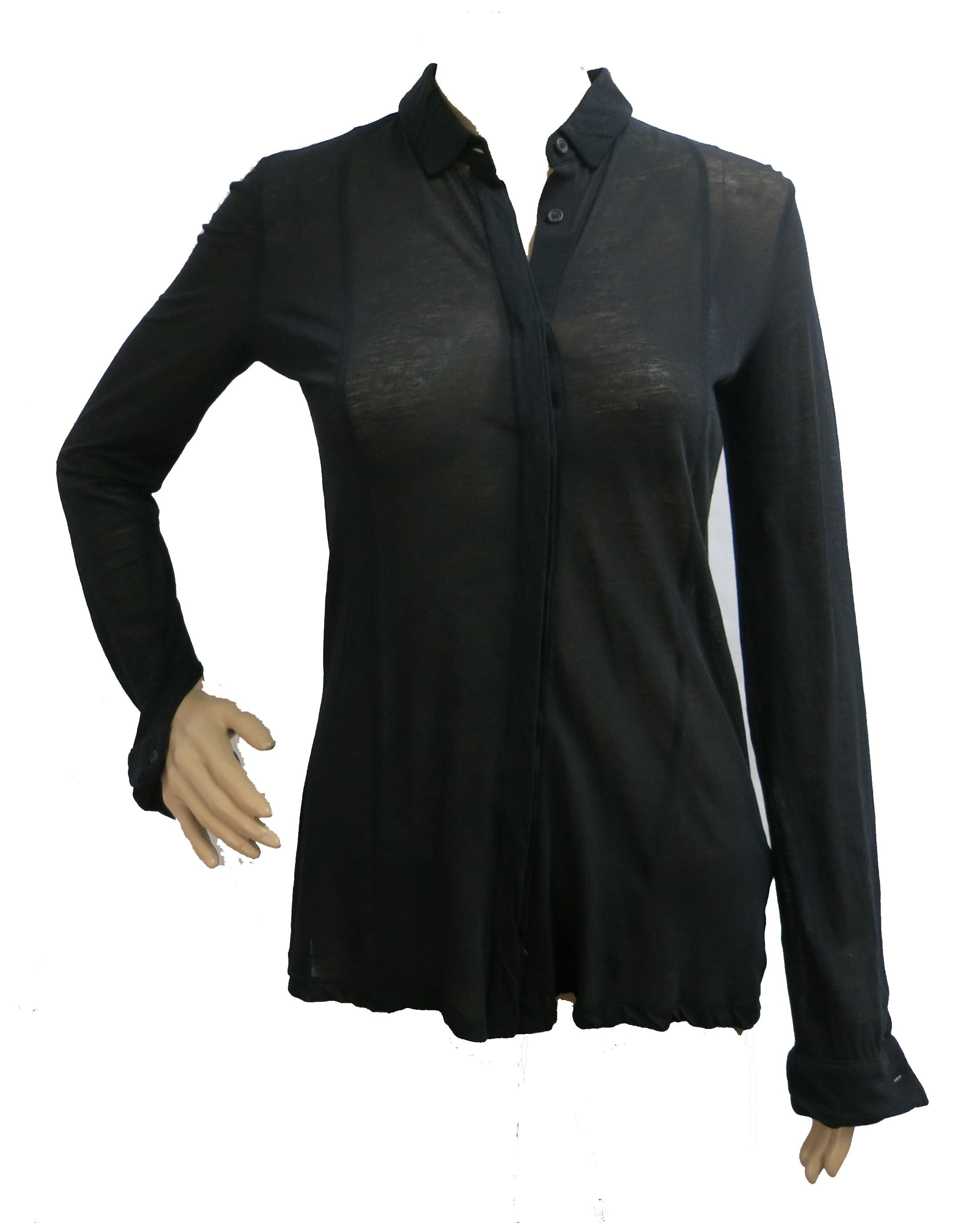 hugo boss deserta damen bluse schwarz transparent ebay. Black Bedroom Furniture Sets. Home Design Ideas